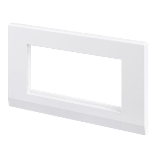 Simplicity White Euro 4 Module Double Plate 07860